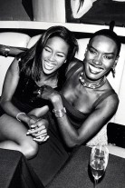 Naomi Campbell and Grace Jones (Photo by Ron Galella, Ltd./WireImage)
